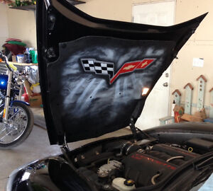 custom Airbrushed Hood Liner or Airbrushed Art for Garage