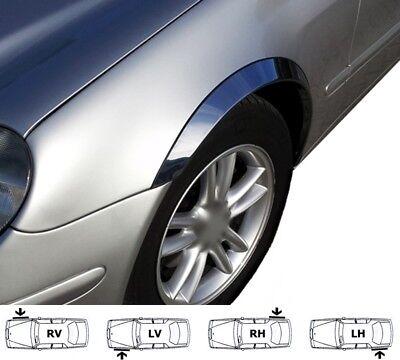 MERCEDES CLK W208 Coupé Cabrio Radlauf Zierleisten CHROM Satz 4 Stück Bj. 97-03