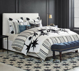 Pottery Barn King Size Upholstered Bed