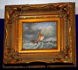 "Selling to a Gent in C.B. Dutch Oil Nautical  24"" X 17"""