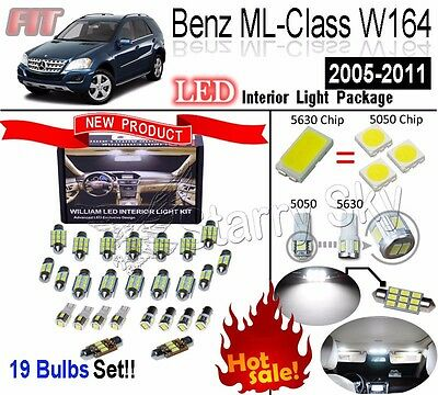 19 Bulbs Super White 5630 LED Interior Light Kit For Benz ML-ClassW164 2005-2011