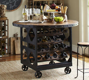 """UNIQUE - 48"""" round table with stools - Industrial Chic"""
