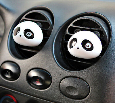 2X Decor Auto Dashboard Air Freshener Blink Panda Perfume Diffuser For Car BL