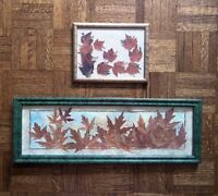 Framed Pressed Leaves Collages (Hand Crafted in Muskoka)