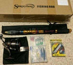 Sougayilang Telescopic Fishing Rod and Reel