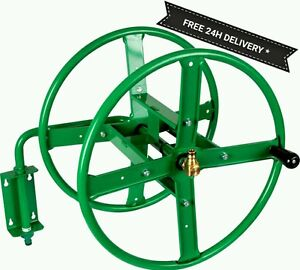 New Wall Mounted metal Hose Reel.Up to 75m of hose.Hot garden item.