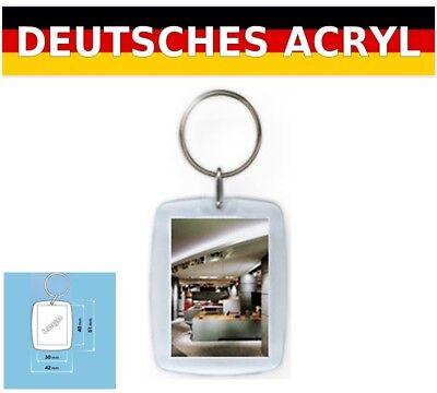 Acryl Schlüsselanhänger Werbeartikel Werbemittel 5 Stück für Bild & Foto PT1