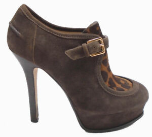 Michael Kors Brown Suede High Heel Women Shoes Size US 6
