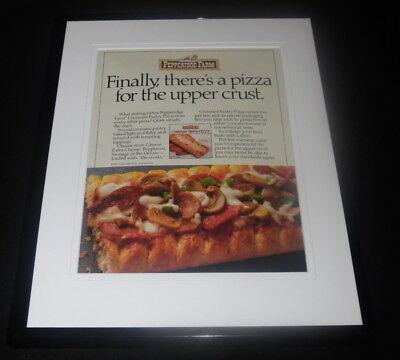 1987 Pepperidge Farm Croissant Pizza Framed 11x14 ORIGINAL Advertisement