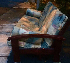 Classic Futon convertible couch ( to double bed)