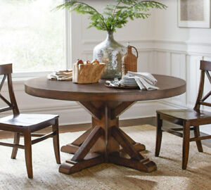 Used, Lightly Used Pottery Barn Pedestal Round Table for sale  London