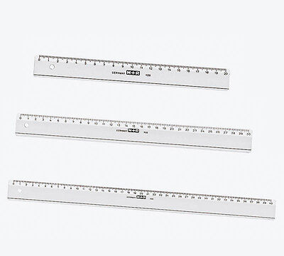 Lineal glasklar Kunststoff 20cm, 30cm, 40cm Massstab Messwerkzeug