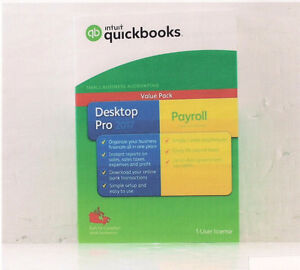 NEW Intuit Quickbook Desk top Pro 2017 w/Payroll