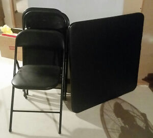 Fold up table with 4 chairs