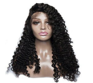 Peruvian Deep Curl Human Hair Lace Front Wig 20 Inches