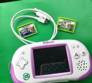 LEAP FROG LEAPSTER EXPLOYER GAMING SYSTEM WITH 2 GAMES USED