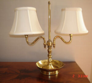 Lovely Antique Solid Brass French Bouillotte Style Table Lamp