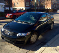2009 Honda Civic Grey Coupe (2 door)