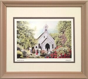 WALTER CAMPBEL Mine Art cart mated and framed 8x10 double mat bo