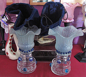 GORGEOUS BLUES CANDLE HOLDERS