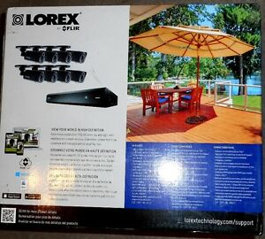 LOREX 16 CHANNEL DVR and 8 HD CAMERAS SECURITY SYSTEM NEW