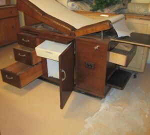 Vintage Mahogany Medical Examination Table Only $50