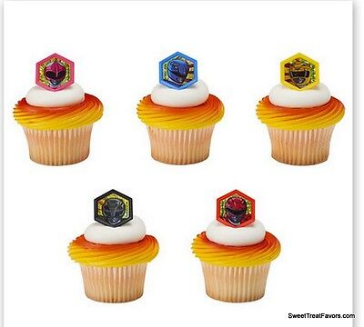 Power Rangers CupCake Cake Topper 12 18 24 Favor Decoration Birthday Boy -