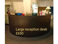 Large Reception Desk (marble top)