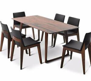 King Furniture Walnut Canyon Dining Table AS NEW condition Pyrmont Inner Sydney Preview