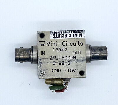 Mini-circuits Zfl-500 10 To 500 Mhz Sma Coaxial Low Noise Amplifier