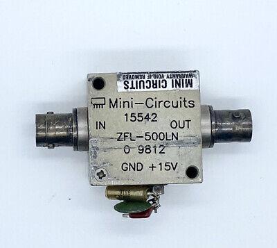 Mini-circuits Zfl-500ln 0.1-500mhz 24db Sma Rf Low Noise Amplifier