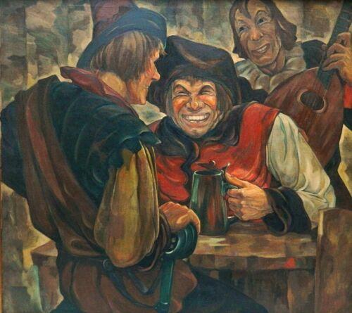 WPA MURAL ARTIST LARGE OIL BY FRANZ FRANK WALTER BERGMANN AUSTRIA-LISTED - $3,900.00