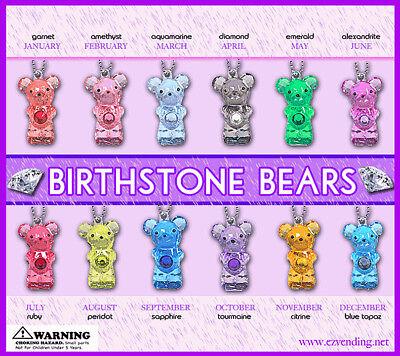 Vending Machine 0.500.75 Capsule Toys - Birthstone Bear Keychains