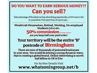 Job Vacancy in Birmingham. Full or Part Time. Very high on target earnings!