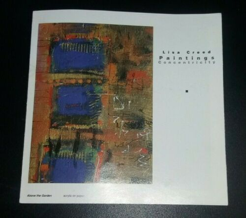 LISA CREED Concentricity paintings art exhibition catalogue booklet 1996