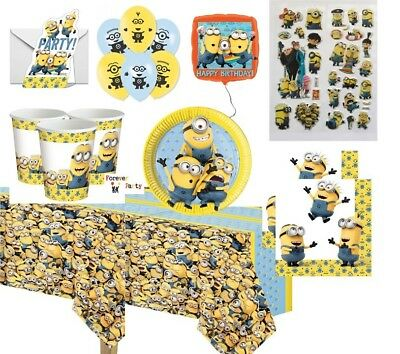 Despicable me MINIONS Party plates cups napkins bags balloons stickers games - Despicable Me Party Games