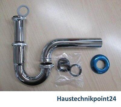 "Röhrensiphon Röhrengeruchsverschluss Röhrensifon Siphon verchromt 1 1/4"" x 32 mm"