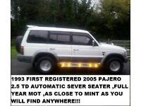 1993 SHOGUN / PAJERO AUTOMATIC LWB FULL YEAR MOT SEVEN SEATS EXCELLENT CONDITION