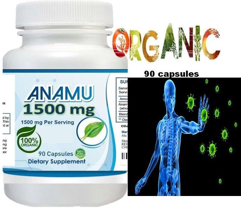 Anamu (Ghinea Hen-weed)  Boost Immune-Reduce Inflammation 1500 mg 90 capsules