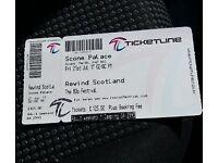 Rewind festival weekend camping ticket 21st-23rd July scone Scotland