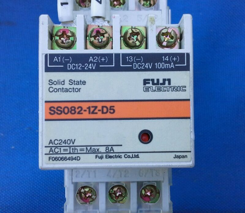 FUJI ELECTRIC SS082-1Z-D5 SOLID STATE CONTACTOR (Qty Available) F06066494D