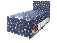 Kids single bed with mattress