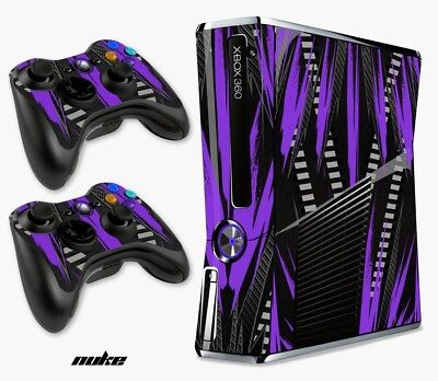 Skin Decal Wrap for Xbox 360 Slim Gaming Console & Controller Xbox 360 S NUKE PU for sale  USA