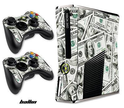 Carcasa Calcomanía Envuelva para Xbox 360 Slim Juegos Consola + Mando Xbox360