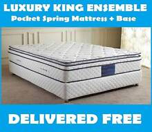 KING Bed Ensemble - KING Size Orthopedic Mattress + Base *NEW* New Farm Brisbane North East Preview