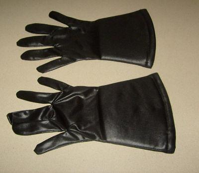 2 SETS HALLOWEEN DRESS UP COSTUME BLACK GLOVES GOTH BATMAN VADER CHEAP GLOVE