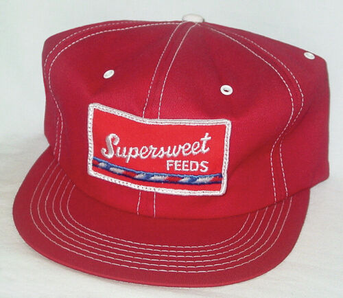 Vintage Snapback Trucker Hat SUPERSWEET FEEDS K Brand Products Patch Made In USA