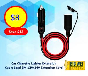Car cigarette lighter extension car charger with cigar lighter plug Slacks Creek Logan Area Preview