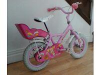 Girls apollo cupcake 12 inch wheeled bike