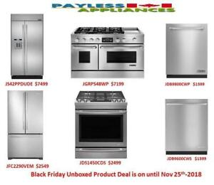 Black Friday Sales Are On At Payless Appliances, Save Big On Our Brand New and Open box Products